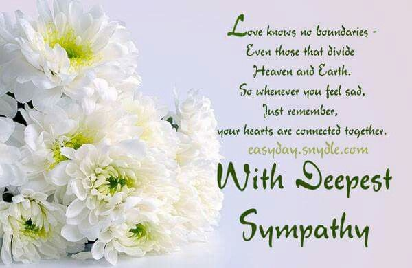 With sincerest sympathy condolences sympathy card messages and grief m4hsunfo Choice Image