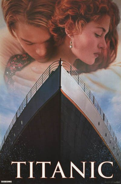 A great Titanic movie poster! Take a Voyage of Love with Leonardo DiCaprio and Kate Winslet. Published in 1998. Fully licensed. Ships fast. 23x35 inches. Check out the rest of our epic selection of Ti