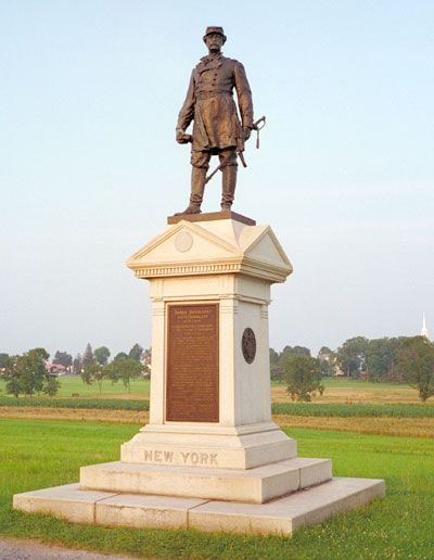 Monument to General Abner Doubleday at Gettysburg