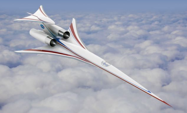 This artists impression of a supersonic aircraft shows what the final model may look like. - DailyMail ('Son of Concorde' Boeing / NASA supersonic testing) via Daily Mail