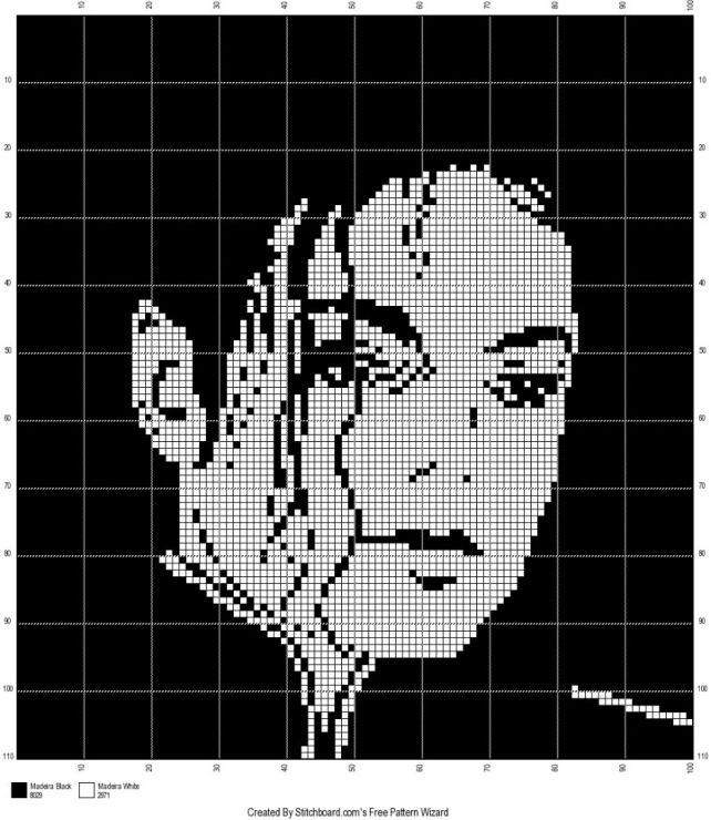 Gallery.ru / Фото #4 - Майкл Джексон (схемы) - Olgakam