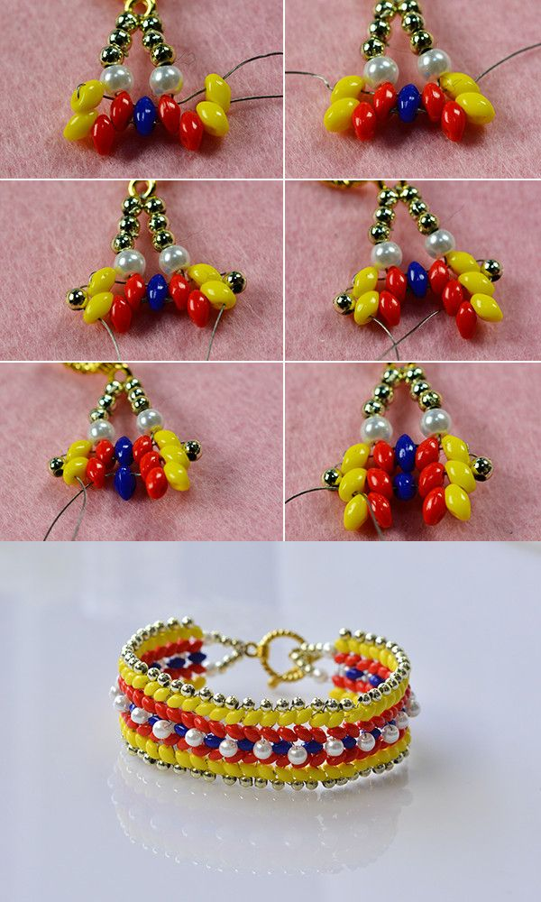 two-hole beads bracelet with bright color, LC.Pandahall.com will release the tutorial soon. #pandahall
