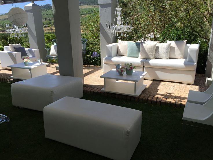 Modern white lounge furniture