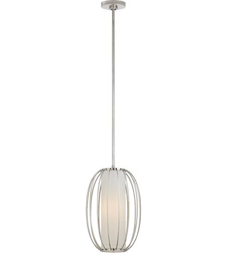 Visual Comfort BBL5008PN L Barbara Barry Carousel 1 Light 11 Inch Polished Nickel Lantern Pendant Ceiling Small Oblong