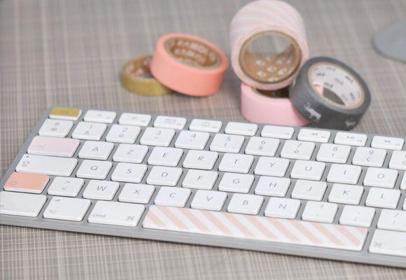 touches de clavier masking tape
