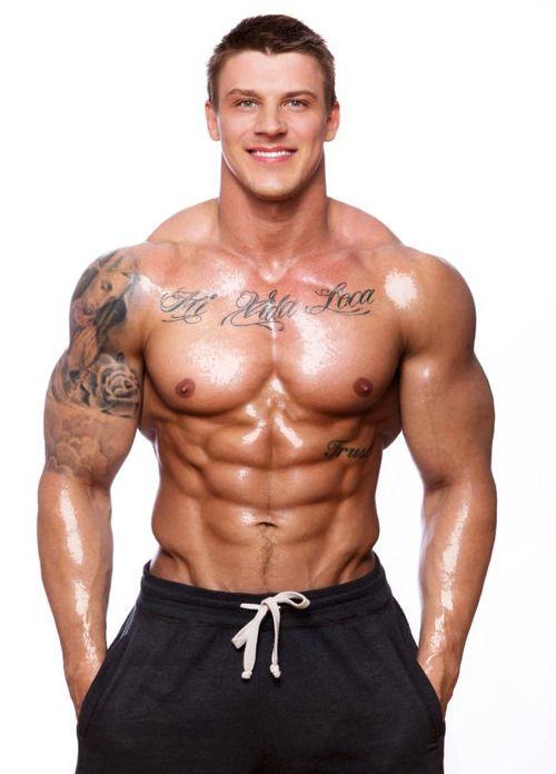 Latvian born bodybuilder and fitness model Gints Valdmanis