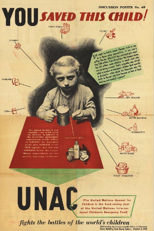 Check out our vintage retro UNICEF posters and stamps!