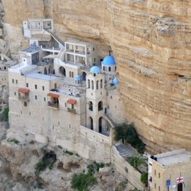 i visited this monastery. and this was apparently where the devil tried to tempt jesus.