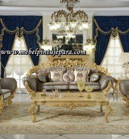 Set Sofa Ruang Tamu Ukir Jepara Klasik Mewah