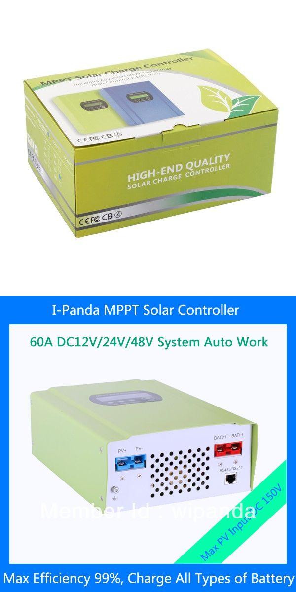 12V/24V/48V Smart 60A MPPT Solar Charge Controller for