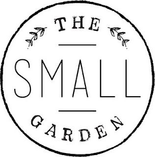 The Small Garden - Logo. this would be a great stamp concept on some outdoor planters as gifts