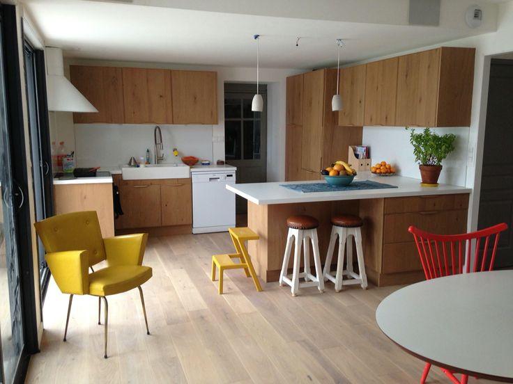 Ambiance scandinave pour cette cuisine nantaise bois et blanc delinia origin - Leroy merlin origine ...