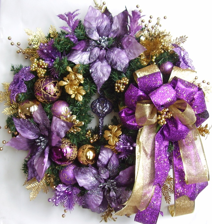 Christmas Purple/Gold Wreath