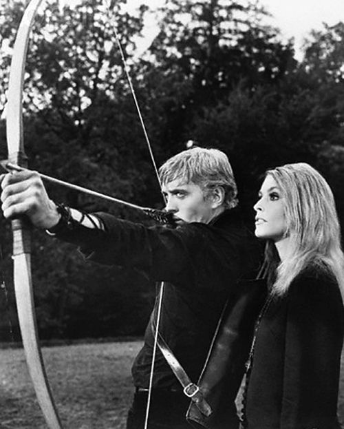 "david hemmings and sharon tate in ""eye of the devil"" (1966).  showing soon on tcm--dvr is set!"