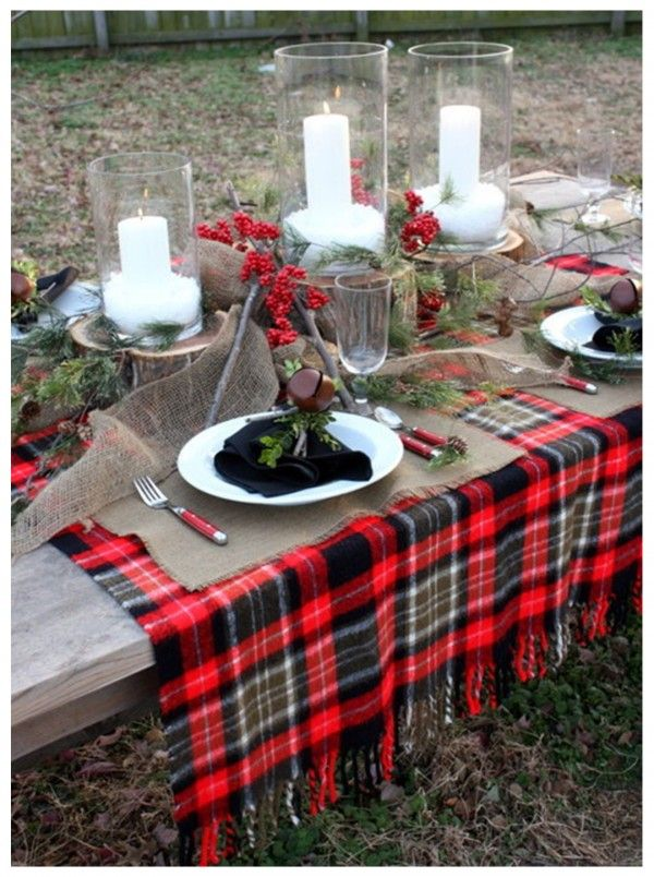 Cool Outdoor Christmas Table Design Image