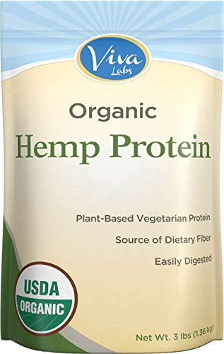 Viva Labs - 15g Organic Hemp Protein Powder, Cold-Milled for Higher Absorption, 3 LB Bag * Be sure to check out this awesome product.