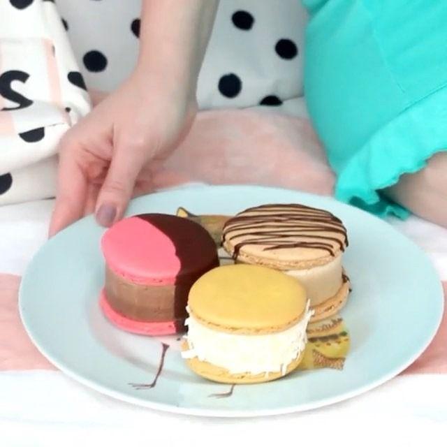 @pankobunny's yummy Macaron Ice Cream Sandwiches!