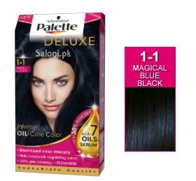 schwarzkopf palette deluxe intensive oil care color magical blue black 1 1 - Coloration Rouge Schwarzkopf