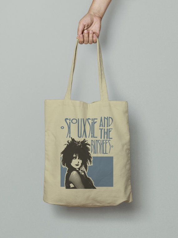 Siouxsie and the Banshees Tote Bag, Market bag, Fabric grocery bag, Shoulder strap, Unique design and gift
