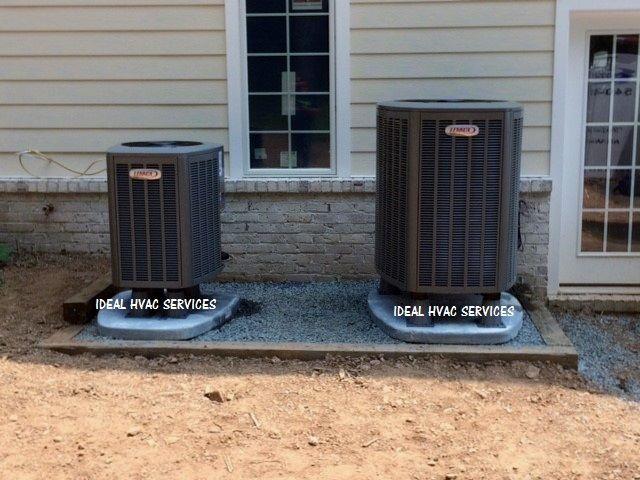 Ideal Hvac Services Lennox Heat Pumps On Composite Pads New