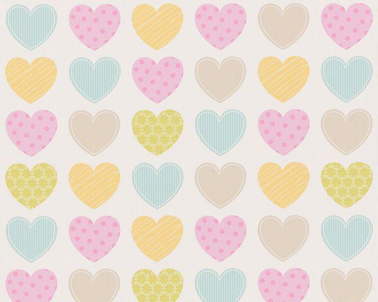 Kinderzimmer Tapete As Creation : ?ber 1.000 Ideen zu ?Herz Tapete auf Pinterest Tapeten, Kunst und