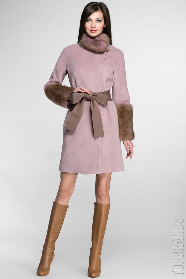 Женские пальто с мехом 2017 (257 фото): из плащевки, на меховой подстежке