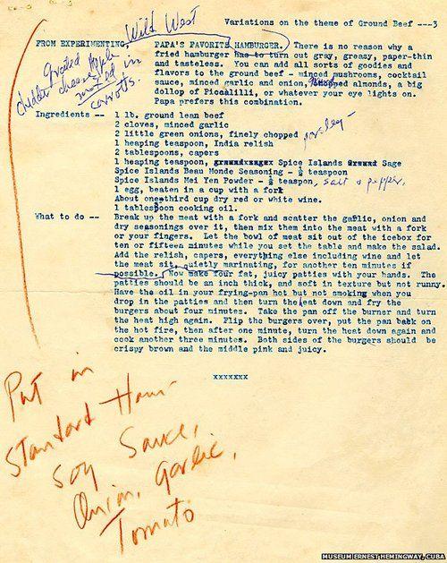 Ernest Hemingway's Recipe