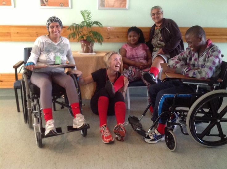 Apparently the boy in the wheelchair who is called Phendulani hadn't smiled for a month since been admitted to the Western Cape Rehabilitation Centre. This is a special story about the hope and inspiration of a certain young doctor named Sarah who has had her own battles that she continues to face with a full smile and a full heart, and now is making a big difference to many people around her