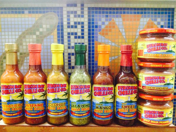 BYRON BAY CHILLI SAUCE / The Australian chilli sauce with worldwide fame. Winning awards across 3 continents, Byron Bay Chilli Company products go perfectly with your next serving of nachos, burritos, tacos and more Mexican delicacies. Try them today!
