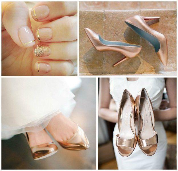 Et Pour OrCuivre Argent Chaussures Couleur La Mariée ybf76YgvIm