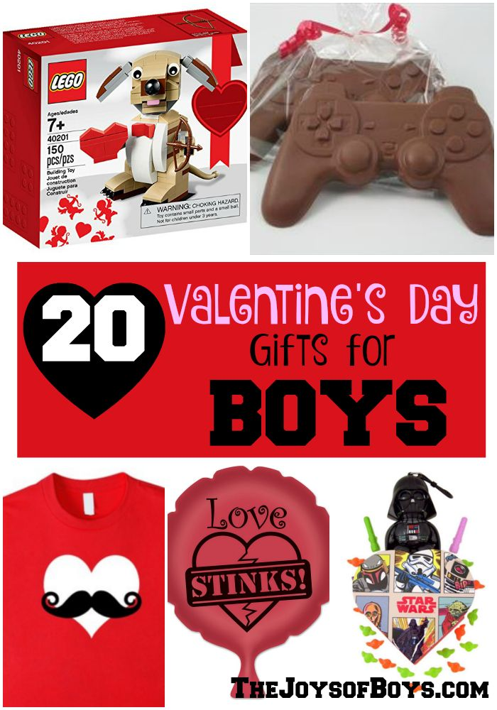 "It is hard to find ""Boy-approved"" gifts for my boys on Valentine's Day. They would love these 20 Valentine's Day Gifts for Boys!"