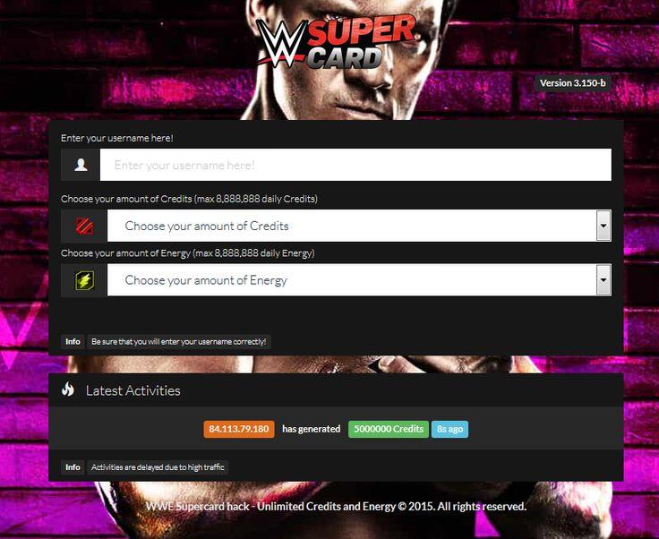 WWE Supercard Credits Hack
