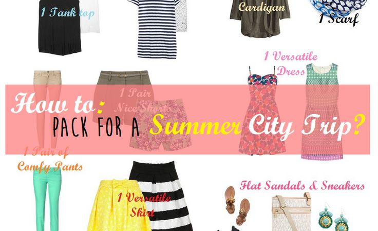 Check out my best tips to pack for a city trip (summer edition) http://www.glamoclock.com/2014/05/how-to-pack-for-summer-city-trip.html