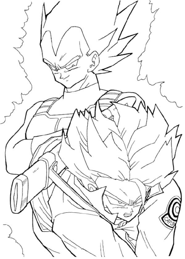Vegeta And Trunks Coloring Page