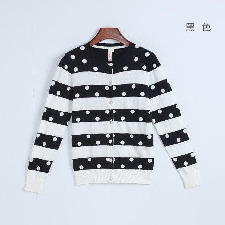 Toyouth Spring Autumn New Zip Up V-Neck Fashion Long Sleeve Cotton Full Polka Dot Sweatshirts Casual Women Hoodies Tops