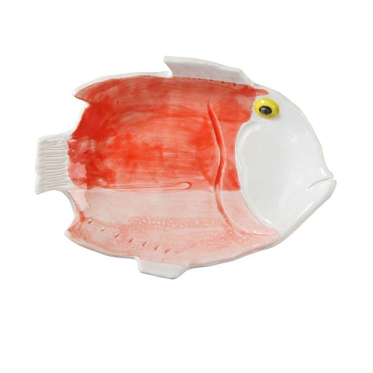 Plat Poisson Rouge Anouk - M - Klevering - Inspirée par les fonds marins, Klevering dévoile une collection de plats design à l'effigie de créatures aquatiques ! Homard ou bien poissons sont déclinés dans des teintes colorées et révèlent l'identité audacieuse et créative de la marque néerlandaise Klevering. Offrant des formes ludiques, ces accessoires de table ne manquent pas d'authenticité… Telle une invitation en bord de mer, évadez-vous avec ces plats en forme de poissons !