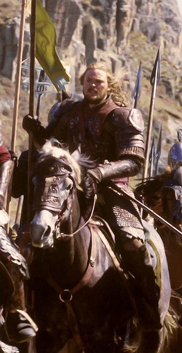 Karl Urban as Eomer.