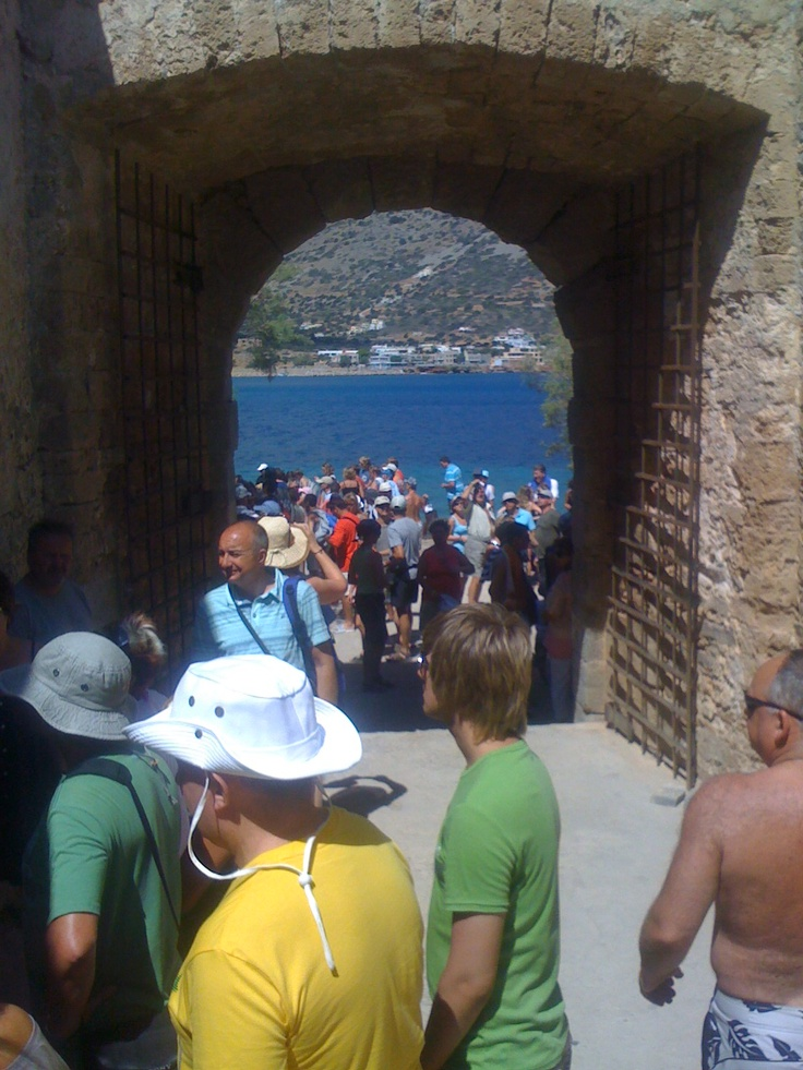 One of the entrances to Spinalonga - former leper colony near Crete