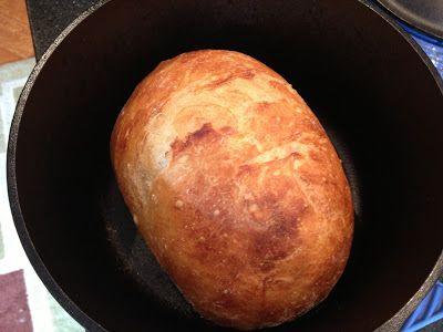 Pão fácil na panela de ferro