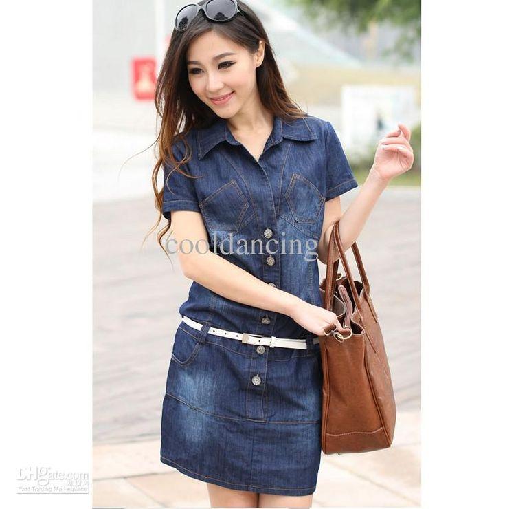 Fashion Denim Jumpsuit Women Denim Dress Size S to XXXXL Denim Dress for Women Online with $24.09/Piece on Cooldancing's Store | DHgate.com