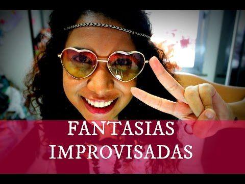 Como Fazer Fantasias Improvisadas para o Carnaval/Festa a Fantasia | Luisa Laranja - YouTube