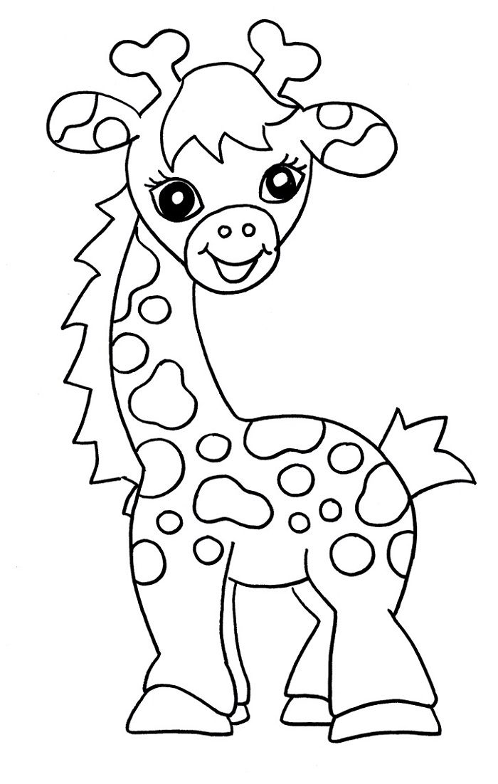 Free Coloring Sheets for Kids Giraffe | Learning Printable | Angela ...