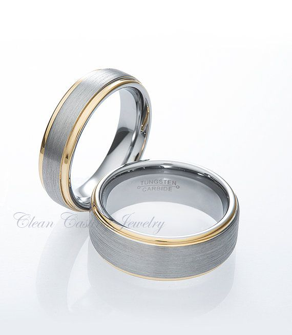 Tungsten Carbide Matching Wedding Rings by CleanCastingJewelry, 99.99