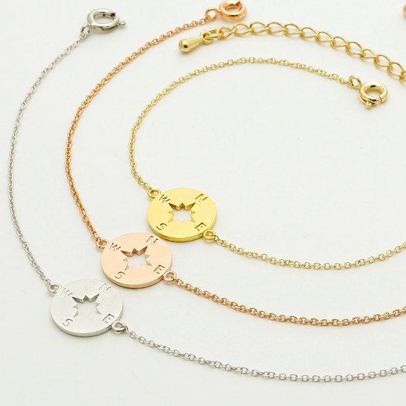 Boussole Bracelet / nautique bijoux bijoux de voyage par CreBijoux