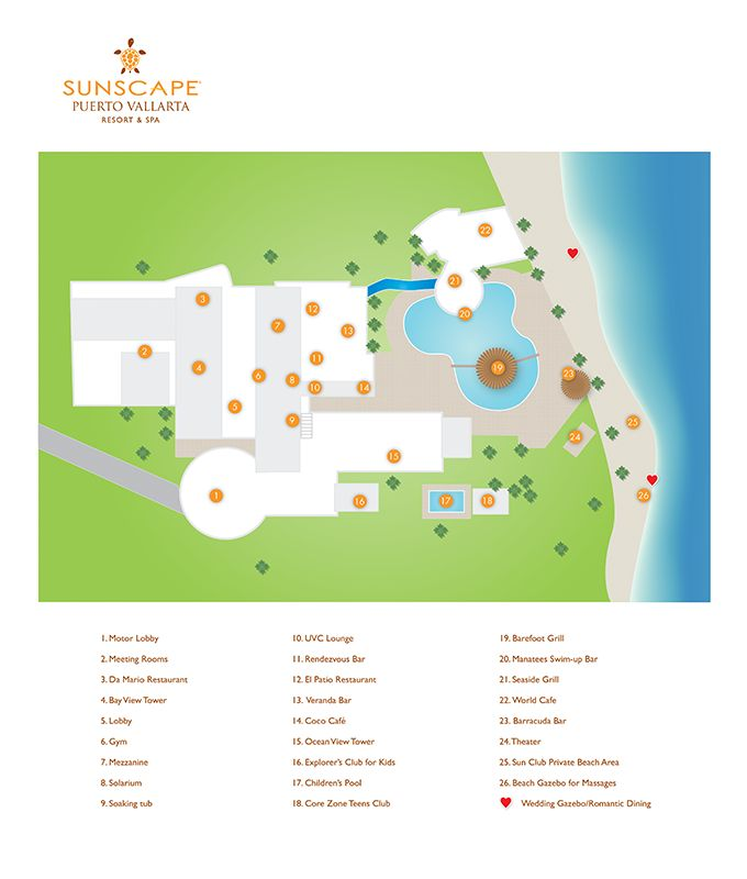 Sunscape Puerto Vallarta Resort Map ~ Unlimited Vacation Club