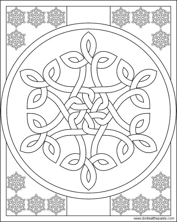 66 Best Celtic Coloring Celtic Designs Images On