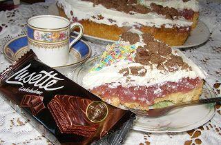 W Mojej Kuchni Lubię.. : tarta z sokiem kisielowym i bitą śmietaną...