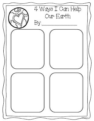 4 Ways I Can Help Our Earth (from Miss Kindergarten)