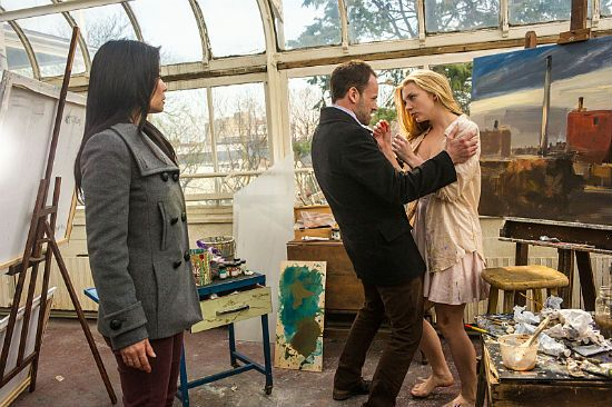 The Elementary Season 1 finale will explain Irene Adlers reappearance and may reveal the identity of Moriarty says creator Rob Doherty.
