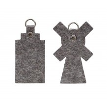 Inspiration: felt windmill and Dutch canal house keyring from Gewoon.